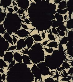 Simply Silky Prints-Floral Black Cream