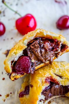 Chocolate Cherry Hand Pies from The Food Charlatan   Close your mouth and go fix some