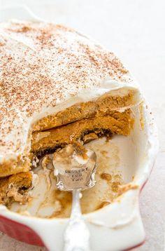 Thanksgiving & Fall Recipes:  Pumpkin Spice Latte Tiramisu