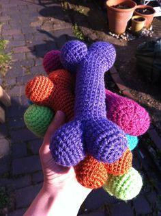 #crochet, free pattern, dog bone, pets, toy, #haken, gratis patroon (Engels), hond, kluif, speeltje, haakpatroon