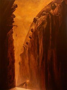 Surrealism Painting, Artist Painting, Arte Horror, Horror Art, Dark Fantasy, Fantasy Art, Scary Paintings, Art Sinistre, Arte Peculiar