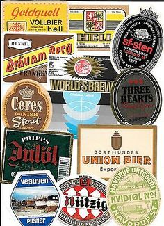 Beer Labels from around the world Lot # 2 2 Christmas Beer, Coaster Art, Label Shapes, All Beer, Beer Coasters, Beer Labels, Craft Beer, Brewery, Things To Come