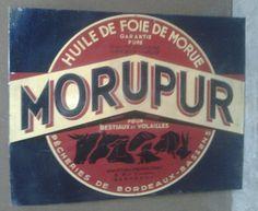 Tole Pub Ancienne Huile Foie De Morue Morupur Pecheries De Bordeaux Gironde • EUR 90,00 - PicClick FR