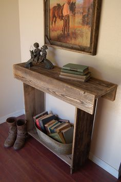 Reclaimed Wood Console Table. 30x13x30 Entry by TRUECONNECTION