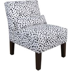 Skyline Furniture Black/White Polyurethane Armless Slipper Chair - 19304295 - Overstock.com Shopping - Great Deals on Skyline Furniture Living Room Chairs
