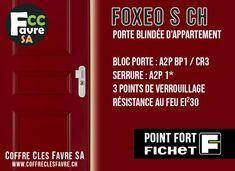 Porte blindée d'appartement Foxeo S EI30 certifiée A2P BP1 contre l'effraction avec homologation AEAI, dispositif de sécurité incendie le plus élevé au monde... #PORTE #EFFRACTION #INCENDIE #SECURITE #FOXEO #A2P #AEAI #EI30 Polished Brass, Gates
