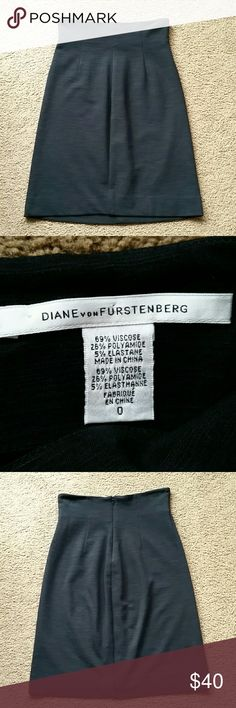 "DVF high waisted black chichi skirt sz 0 Gently worn black high waisted chichi skirt from Diane von Furstenberg! In excellent condition -- no holes, stains, tears, or defects (I would recommend a dry clean.) Great staple black skirt for any wardrobe!  Please see second picture for fabric composition. Waist = 12.5"", Length = 21.5"" Size 0.  Cross-listed. All sales final. Diane von Furstenberg Skirts Pencil"