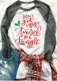 Don't Get Your Tinsel In A Tangle Baseball T-Shirt
