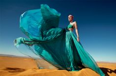 Tatler Desert Storm by Hannah Teare  Love the color and movement