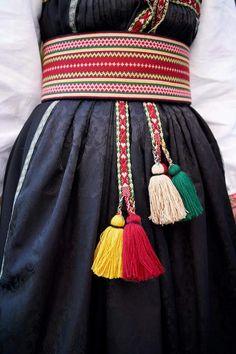 Folk Costume, Costumes, Weaving Patterns, Victorian Era, Camilla, Norway, Tassel Necklace, Scandinavian, Culture