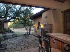 Spectacular Spanish style home with outdoor living area.