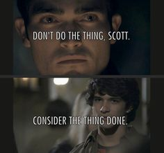 "This interaction between Derek and Scott: | 21 Jokes Only ""Teen Wolf"" Fans Will Find Funny"