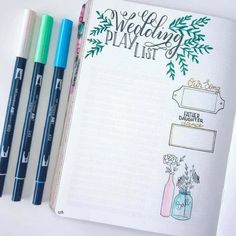 Wanting to learn how to do wedding planning in your bullet journal? We have you covered! +13 inspirational wedding planning layout ideas for you to try! #bulletjournal #weddingplanningbulletjournal #bulletjournalinspiration #bujolayout #weddingplannerlayout #weddingplannerbujo