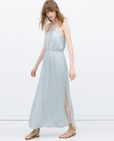 Pin for Later: 18 Halloween Costumes That Are Really Just an Excuse to Shop at Zara Greek Goddess The look: Long Dress With Chain Neckline ($70) Pair it with: A leaf crown and lace-up sandals