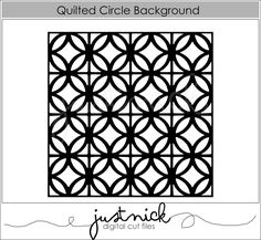Quilted Circle Background