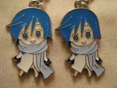 kaito vocaloid earrings. $6.99, via Etsy. Rani