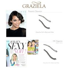 Our Wave Collection has been a staple on Red Carpets for 3 years. Glimmering natural white zircon or bold black spinel set in multiple finishes makes this collection look great from day to night. As seen on the always fashionable Rosario Dawson and featured in Okay !!! Magazine.  Shop our Wave Collection (Starting at $150) on our website. #earcuff #earclimber #earring #waveearcuff #rosariodawson #okaymagazine #celebrityjewelry #celebrityfashion #celebrity #grazielagems