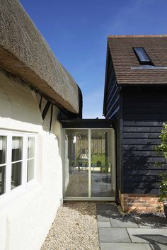 This thatched cottage extension in Berkshire was granted Planning Permission and Listed Building Consent in November Garage Extension, Cottage Extension, Building Extension, House Extension Design, Extension Designs, Barn Renovation, Cottage Renovation, Garden Room Extensions, House Extensions