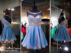 Steel Blue Illusion Sweetheart Neckline Short Homecoming Dress