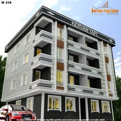 High Building, Building Facade, Building Design, Multi Story Building, Front Elevation Designs, Building Elevation, Archi Design, Fantasy House, Towers