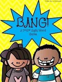second grade BANG sight word game Teacher pay teachers