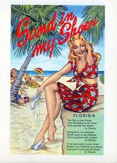 Souvenir of Miami : Miami Beach, Florida Vintage Florida, Old Florida, Florida Usa, Florida Travel, Florida Beaches, Florida Trips, Vintage Hawaii, Florida Keys, Mexico Travel