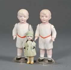 Three All-Bisque Dolls | Sale Number 2447, Lot Number 676 | Skinner Auctioneers