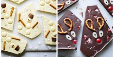 Kids will love this edible Christmas bark recipe, and it's so easy to make! Try it with any of your favourite chocolate topped with dried fruits and nuts for a grown-up twist. Christmas Bark, Christmas Chocolate, Christmas Decorations, Outdoor Decorations, Chocolate Topping, Chocolate Bark, Melting Chocolate, Chocolate Garnishes, Chocolate Buttons
