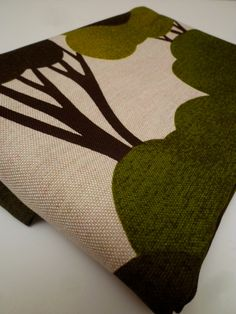 GREENWOODS vintage scandinavian fabric by FABBITS on Etsy, $22.00