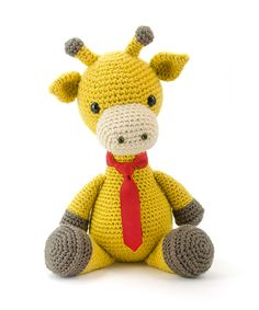 Stanley the giraffe is the cover star of the book Zoomigurumi 4.