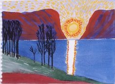 David Hockney - Setting Sun, Midfjord 2003