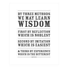 Three Ways to Wisdom