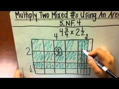 multiply mixed numbers using area models