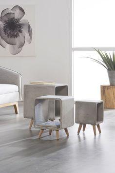 Des meubles effet béton, c'est carrément canon