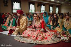 Fairy-tale Sikh bride and groom. https://www.maharaniweddings.com/gallery/photo/140711