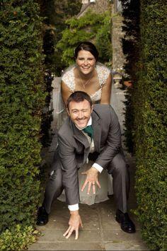Fun wedding photo. American football