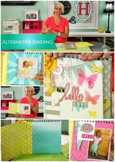 """CREATE TO REMEMBER WITH HEIDI SWAPP: ALTERNATE BINDING Join Heidi Swapp as she shares a fun album binding ideas featuring her Butterfly Color Magic Album. You can apply this technique using your stash to """"make pretty stuff."""" Watch @ mycraftchannel.com #mycraftchannel @Heidi Swapp #papercrafting"""