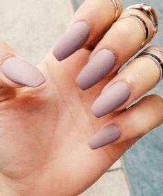 Beautiful Pastel Purple Matte Nail Design