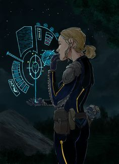 Future navigator, space opera / sci-fi character inspiration  Image from TimeWatch RPG