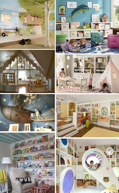 What great ideas for playrooms