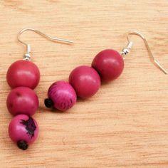 Hot Pink Earrings  Fair Trade Earrings  by ArtisansintheAndes