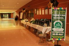 Tarbiyah School  custom banner and personalized products with their school name  on sale to raise money for school