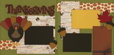 Out on A Limb Scrapbooking Premade Page Kit Thanksgiving   eBay