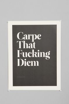 Wordboner Carpe Art Print #urbanoutfitters