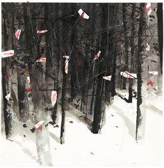Velasco Vitali (Italian, b. 1960), Tensioni #5, 2015. Iron, pastel, paper and ink on paper laid on wood panel, 46.6 x 46.4 x 13 cm.