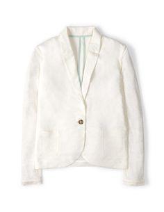 Linen Blazer WE483 Jackets at Boden