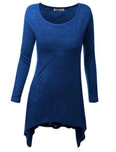 Doublju Womens Modern Casual Slim Fit 3Colors Long T-Shirts Royalblue 3XL Doublju http://www.amazon.com/dp/B00PI0CLWW/ref=cm_sw_r_pi_dp_MmZOub097QZ59