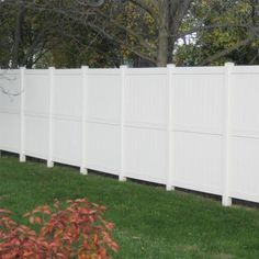 Weatherables Auburn 6 ft. x 6 ft. White Vinyl Privacy Fence Panel-PWPR-3R-6X6 - The Home Depot