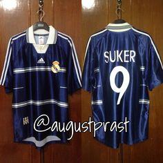 0b6c1032478 Real Madrid 1998-1999 Away  9 Suker Real Madrid Football