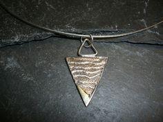 Schmuckanhänger - Zarter Anhänger aus Silber/Gold in Sepiaguss - ein Designerstück von schmuckspektakel bei DaWanda